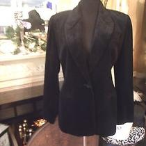 Exprress Women's Black Velvet Jacket Blazer Sz 7/8 Lined  Photo