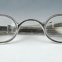 Exquisite Antique American Coin Silver Spectacles/reading Glasses Mcallister Photo