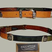 Exquisite Brighton Antique Silver Leather Belt  Photo
