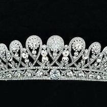 Exquisite Swarovski Crystals Royal Family Tiara Crown Wedding Jewelry Sha8627 Photo