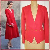 Exquisite Vintage Sonia Rykiel Red French Blazer Golden Buttons Sz 40fr 8-10 Us Photo