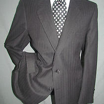 Exquisite Vintage Ysl Yves Saint Laurent Dual Vents  Charcoal Men Jacket 44 R Photo