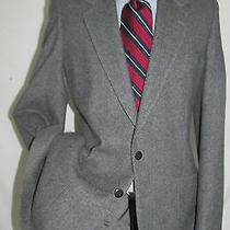 Exquisite Vintage Ysl Yves Saint Laurent Gray Flannel Men Jacket 38 L France Photo