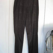 Exte by Versace Made in Italy Sexy Chic Smooth Black Dress Pants Size Us 30 (44) Photo