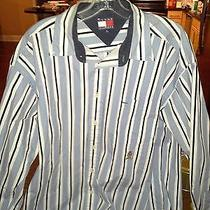 Extra Large Long Sleeve Button Up Tommy Hilfiger Cotton Shirt Photo