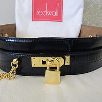 Extravagant Wide Moschino Leather Belt Redwall 40  S  Photo