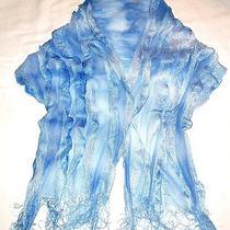 Eyelash Tier Designmissoniblue/ White Fine Knit Cape/ Poncho Top S/m Italy  Photo