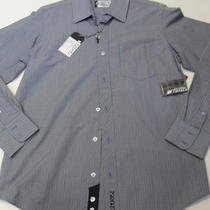 Ezekiel Men's Hudson L/s Shirt Dark Blue Small Nwt Photo