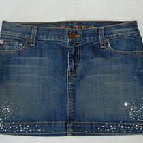 Ezra Fitch Abercrombie Jean Skirt Stretch Jewelled Mini Womens 26 Photo