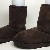 F Womens Ugg Australia Winter Suede Dark Brown Boots Size 6 Photo