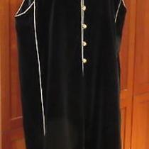 Fab 70s Vtg Yves Saint Laurent Ysl Rive Gauche Black Velvet Caftan Tunic Coat 38 Photo