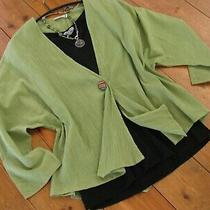 Fab Anne Campbell Sage Cotton Crepe Unstructured Summer Jacket Fit16-Ish Nwt Photo