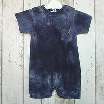 Fab Baby Boy Blue Tye Dye Romper - h&m (2 - 4 Months) Photo