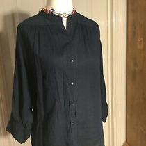 Fab Gap Navy Relaxed Fit Tunic Shirt Size Xs 8/10 Good Condition Photo