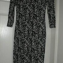 Fab Ladies h&m Black Mix Spotty 3/4 Sleeved Bodycon Midi Dress Uk Size Xs Photo