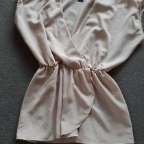 Fab Ladies h&m Blush Pink s' Sleeved Peplum Top Eur 36 (Approx Size 10) Photo