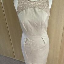 Fab Warehouse Blush Beige Smart Shift Style Dress Size 12 Photo