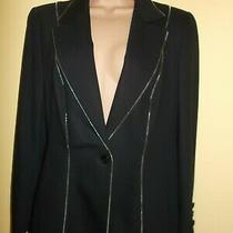 Fabulous Black Escada Jacket/blazer - Size 42 - Zip Embellishment Photo