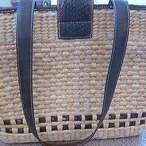 Fabulous Brighton Straw Leather Purse Handbag Bag Charm Bracelet  225 Photo
