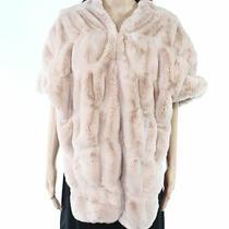 Fabulous Furs Women's Jacket Blush Pink One Size Faux Fur Bolero Shrug 179 574 Photo