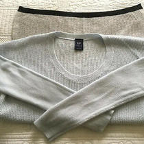Fabulous Gap Baby Blue Light and Dark Grey Long Sleeve Jumper Size S Chest 40 Photo