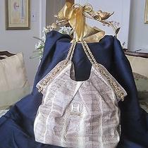 Fabulous Halston Heritage Large Water Snakeskin Designer Handbag Photo