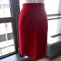 Fabulous Moschino Red Velvet Pencil Skirt Us 10 Fits Like a 6-8 Imo Photo