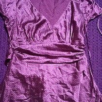 Fabulous Purple Silk Top v Neck Size S Work Formal Evening Wear Vgc Photo
