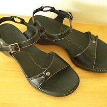 Fabulous Timberland Black Leather Sandals 7m - Brand New Photo