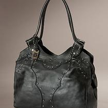 Factory New Frye Vintage Stud Shoulder Bag Black Leather International Ship Photo