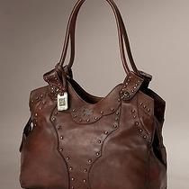 Factory New Frye Vintage Stud Shoulder Bag Brown Leather Photo