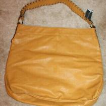 Faded Glory Large 1-Compartment Hobo Purse (Mustard Yellow W/ Snap) New W/ Tags Photo