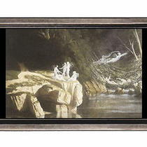 Fairies by a Rocky Stream Fantasy Belt Buckle Sturdy Metal Usa Made Photo