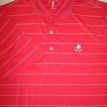 Fairway & Greene Tech Golf Polo Shirt 2xl Xxl Avon Oaks Country Club Coral  Photo