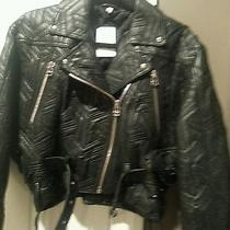 Faith Connexion Lamb Leather Motorcycle Jacket Photo