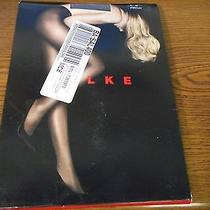 Falke 30 Den Appearance 3903 Platinum Fashion Tights Size Medium Msrp 44.00 Nip Photo