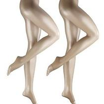 Falke Shelina Toeless Tights 12 Den Appearance 40-42 Med Powder Transparent New Photo