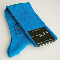 Falke Socks Airport Over-the-Calf Turquoise Dress Socks Men's Size 9.5-10.5 Photo