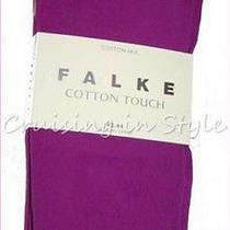 Falke Tights European Cotton Mix Stockings Pantyhose Sz M Dahlia Purples New  Photo