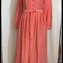 Family Fashion by Avon Salmon Pink W/silver Sparkle Threads Shirt Waist Dress Photo