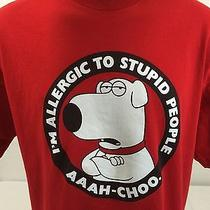Family Guy Brian Griffin i'm Allergic to Stupid People Mens T Shirt Red 2xl Photo