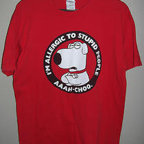 Family Guy Brian Griffin i'm Allergic to Stupid People T-Shirt Men's Size Large Photo
