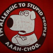 Family Guy Brian Griffin Stupid People Funny T-Shirt Shirt Men's Adult Red Large Photo