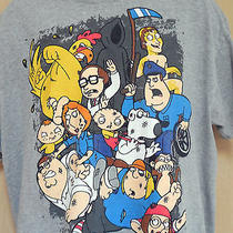 Family Guy Cast Xl Gray T Shirt Peter Griffin Stewie Brian Meg Seth Mcfarlane Photo