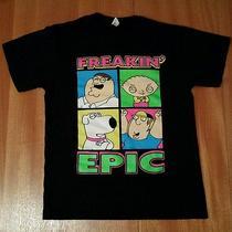 Family Guy Freakin' Epic Petter Stewie Brian Chris Griffin Black T-Shirt Medium Photo