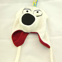 Family Guy's Brian Griffin Knit White Laplander With Red Fleece Lining Photo