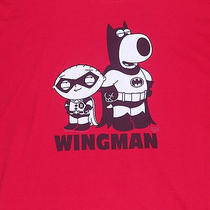 Family Guy Stewie Brian Griffin Batman Robin Wing Man Adult Xl Red Shirt Funny Photo