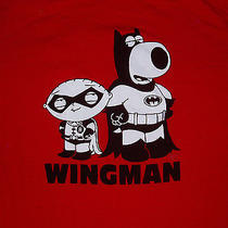 Family Guy Stewie Brian Griffin Batman Robin Wingman Adult Large Shirt Funny Photo