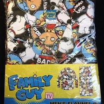 Family Guy (Stewie & Brian Griffin) Men's Flannel Pajamas (Size Large) - New Photo