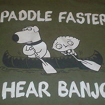 Family Guy Stewie & Brian Griffin Paddle Faster I Hear Banjos Parody T-Shirt 2xl Photo